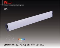 T5 super slim design fluorescent lighting fixture with electrical outlet