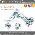 Half overlay kitchen cupboard hydraulic hinges