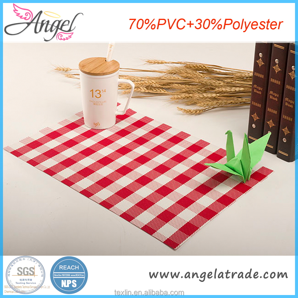 Excellent quality custom vinyl placemats and coasters cheap price promotional gifts