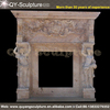 cultured marble fireplace,cheap stone fireplace,marble fireplace mantel