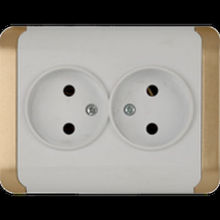 Switches and sockets,group sockets,plugs,double socket outlet 220 V 10 A