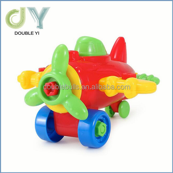 Educational puzzle aircraft, children's DIY plastic assembly toys