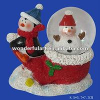 shoe shape polyresin snow globe with blowing snow