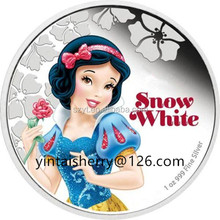 New Coin for Cartoon Characters Ariel,Aurora,Cinderella,Belle,Jasmine, Tiana