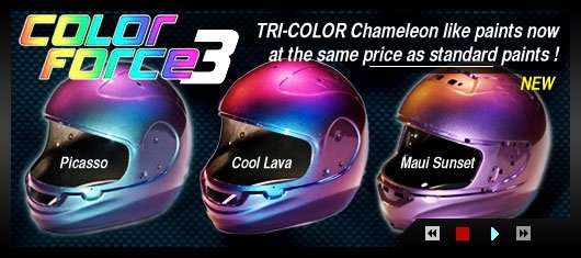 ALSA CANDYS PEARLS METALFLAKE XOTIC COLORS HELMET