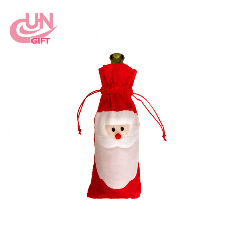 Christmas Santa Claus Wine Bottle Cover For Christmas Banquet Dinner Party Table Decor