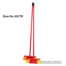 HQ0577R factory export to Doha market coconut broom sticks PP soft broom w/ 120cm wooden stick