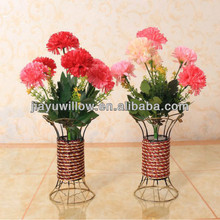 Cheap white wicker wedding vase empty wholesale from china