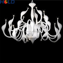 Nordic Swan lamp post modern iron art lighting simple fashion creative restaurant chandelier crystals pendant light
