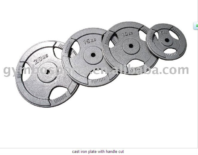 cast iron weight plate with handle cut /fitness equipment/vibration plate