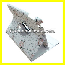 Rosa Rugosa Design/Pattern For iPad 2 3 4 PU Leather Green Case Rotating 360 Stand With Magnetic Wholesale Good Price