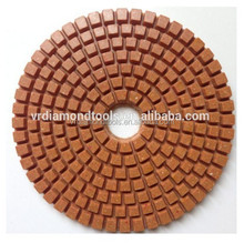 Flexible Resin Wet Granite Diamond Polishing Pad for glass/tile/hard metals/concrete,stones