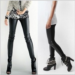 Factory Price Sexy Women Tight Genuine Leather Motorcyle Pants