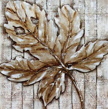 Wholesale Decoration Tree Leaf Oil Painting Picture