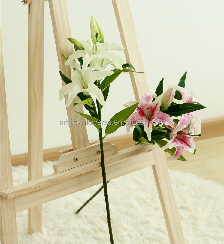 cheap wholesale scented artificial soft touch lily flowers