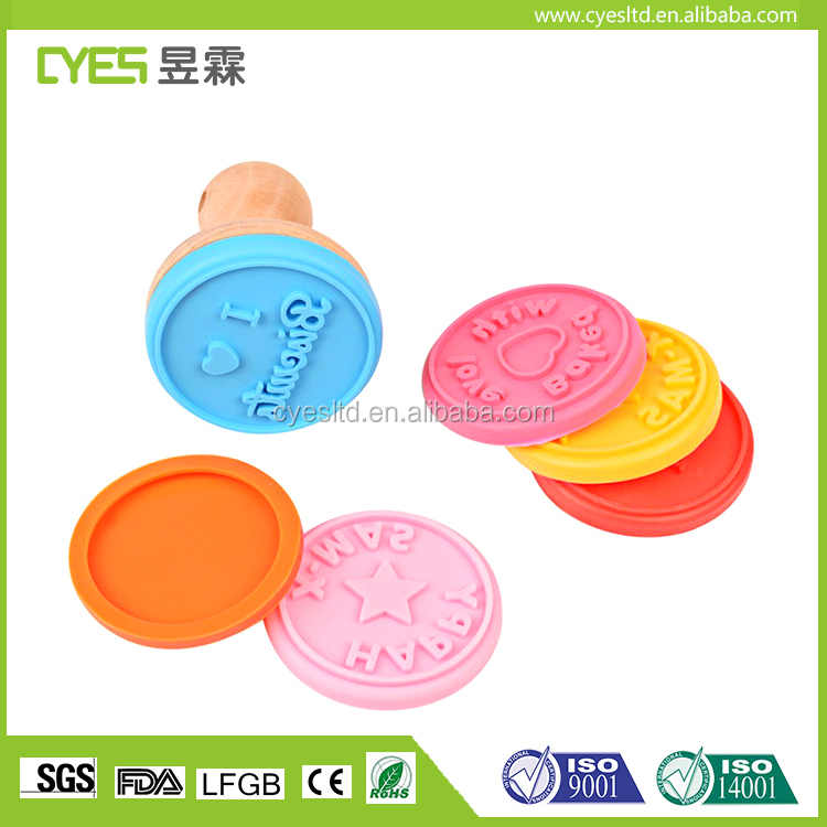 High quality universal easy to clean food gradecustom silicone stamp silicone cookie stamp