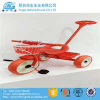 2016 new model metal frame baby tricycle / big kid tricycle with trailer / kid bicycle child tricycle with canpony