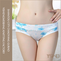 OEM order flowers pattern design sexy high quality imported panties