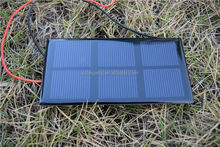 60*120mm Small Size and Power 0.6W 1.5V Mono Epoxy Solar Panel
