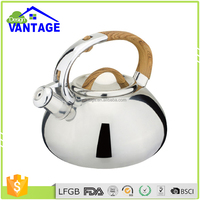 Chinese single bottom non-electric whistling kettle water jug stainless steel tea pot