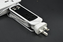 USB One Way Power Extension Outlet Switch Socket Strip for Mobile Phone Smartphone Tablet Laptop for Global