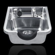 Stainless steel good quality hair salon shampoo bowl exclusive portable hair washing basin