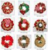 indoor red berry christmas wreaths with red bow