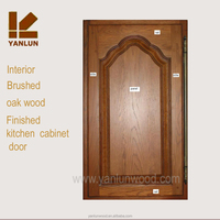country style European design high gloss solid wood kitchen cabinet door