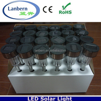 2016 Wholesale Cheap Stainless steel White outdoor Lawn garden solar butterfly garden lights