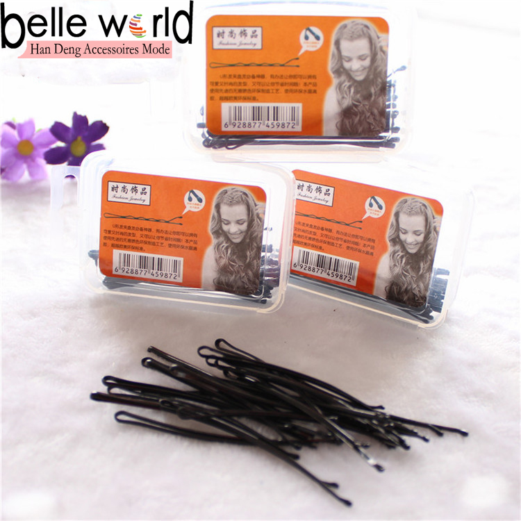 Classic Design Black Metal Bobby Hair Pin Clips