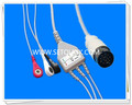 Nihon Kohden 11 Pin One Piece ECG Cable Manufacture in ShenZhen