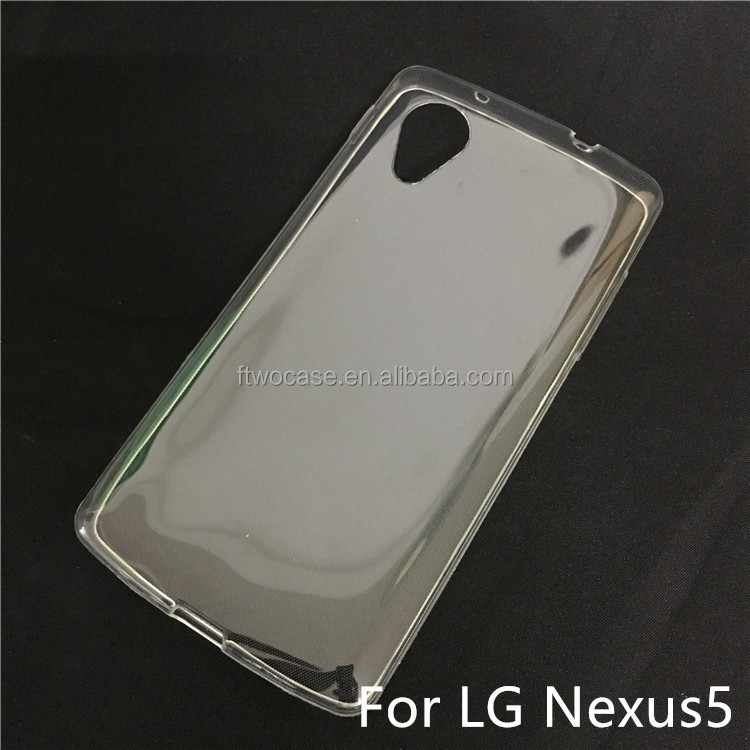 Soft TPU Silicon Transparent Clear Case for LG nexus 5
