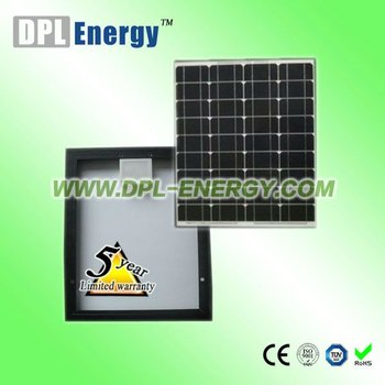 DPL-40M 40w black frame solar panel