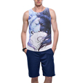 Men's Tank Top T-Shirt Muscle Camo Sleeveless Tee A-Shirt Bodybuilding Gym Tank Top