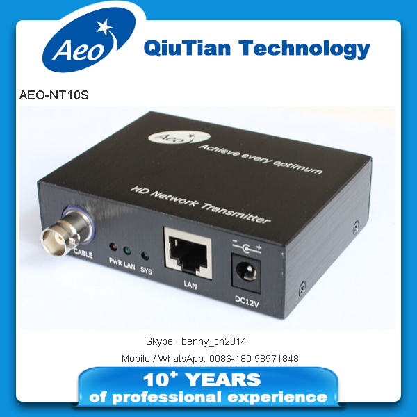 New arrival 10/100Mbps transmission rate CCTV 1-port coax converter Mini IP coaxial Extender