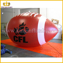 Outdoor Large CFL Promotional Inflatable Rugby Ball For Advertising