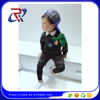 Korean fashion spring children's clothing children's suits boys space cotton two-piece suit