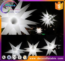 Good quality inflatable pvc 3d light lava stars