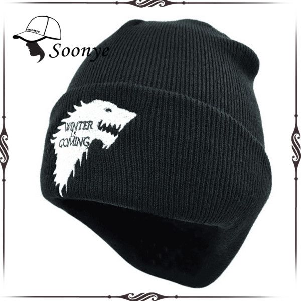 Warm Knitted Beanies Wholesale Embroidery Logo Winter Hat