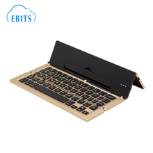 Wireless Folding Slim Mini Aluminum Bluetooth Keyboard Foldable