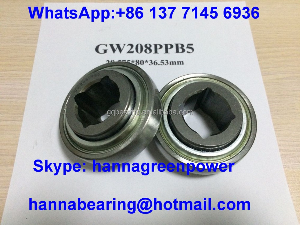 GW209PPB5 Square Hole 1 1/4 Harrow Bearing 31.75x85x37.8mm Agriculture Bearing