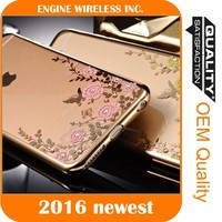 mobile phone set bling diamond case for iphone 6 case transparent