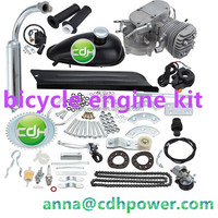 2 cylinder 66cc 80cc bicycle gas Engine kit , complete engine kits