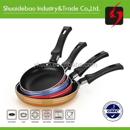 Culinary comforts pan with temperature sensor induction fry pan