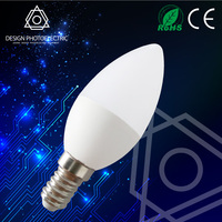 Aluminum housing 270 degree SMD Led Bulb E14 dimmable led candle bulb C37 E14 Led Candle Light Lamp
