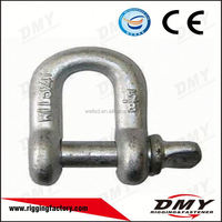 G210 Galvanized D Type Bow Shackle