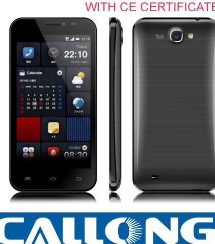5.0inch mtk6572 dual core lazer smart mobile phone