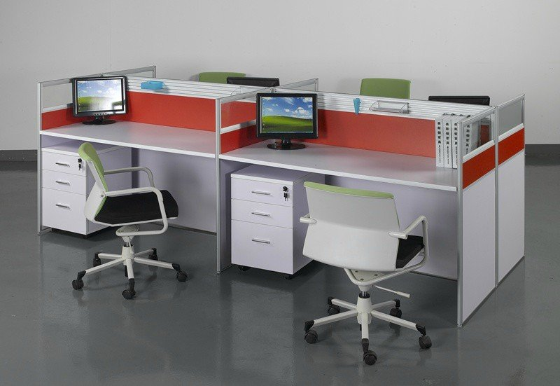 High quality custom office low partition for 4 seats