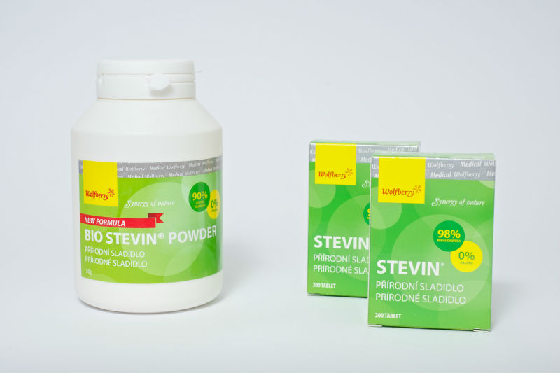 Stevia pills and powder
