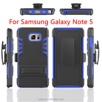 For Samsung Galaxy Note 5 Kickstand Armor Swivel Belt Clip Phone Case